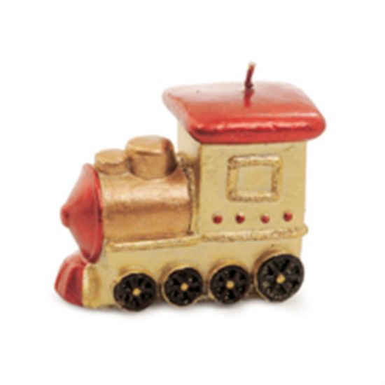 Vela Formato Trem Ouro Tamanho P (Velas de Natal) - 2 Un