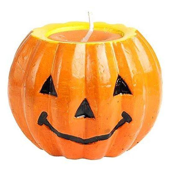 Vela Halloween Abóbora Média