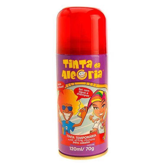 Tinta da Alegria para Cabelos Spray - Vermelho