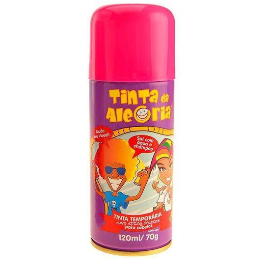 Tinta da Alegria para Cabelos Spray - Rosa