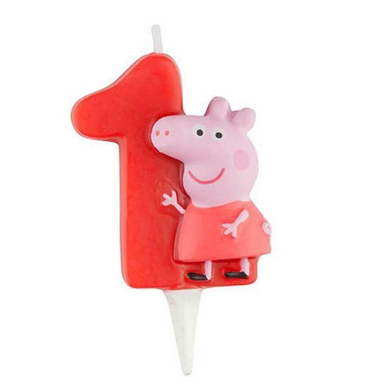 Vela Escultura 3D Numeral Peppa Pig - Nº 1