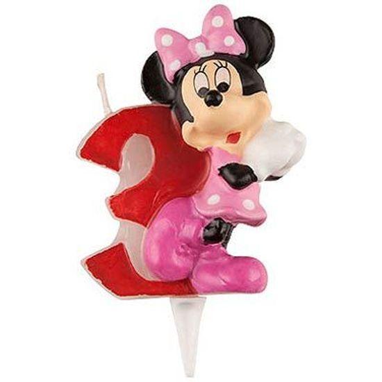 Vela Escultura 3D Numeral Minnie - Nº 3