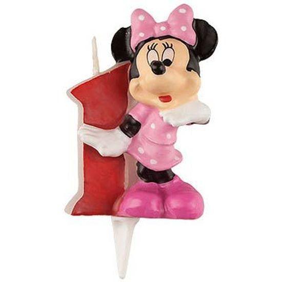 Vela Escultura 3D Numeral Minnie - Nº 1