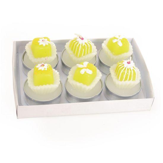 Vela 6 Docinhos Amarelo ( Velas Candies ) - 2 Jogos com 6 Peças