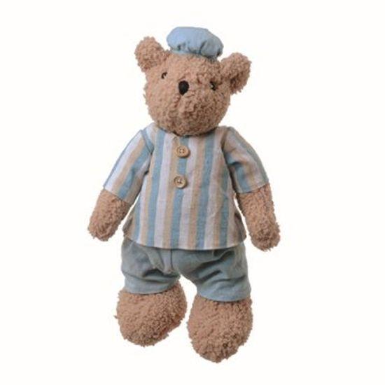 Teddy Urso Pelúcia M Roupa Azul (27,5cm)