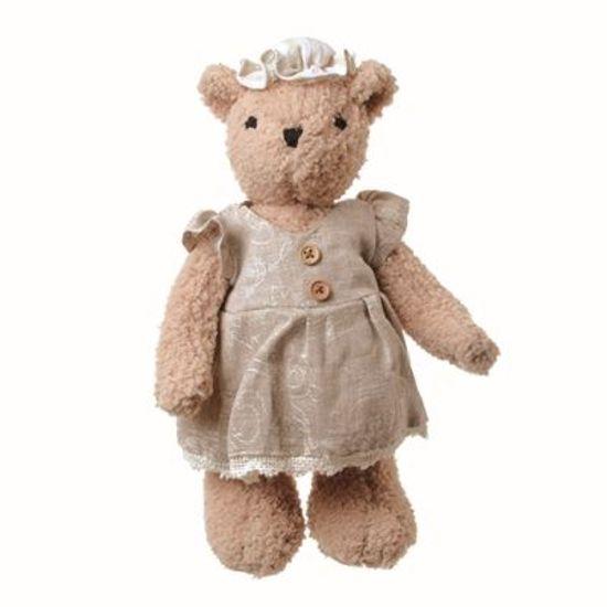 Teddy Urso F Bege 28 cm - UNITÁRIO