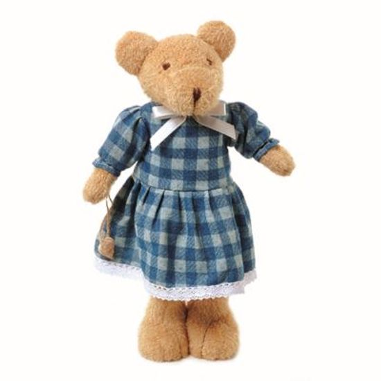 Teddy Urso Feminino Azul (30cm)