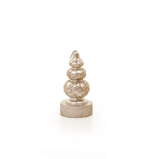 Vela Formato Castiçal Nude Tamanho P (Velas de Natal) - 2 Jogos com 6 Peças