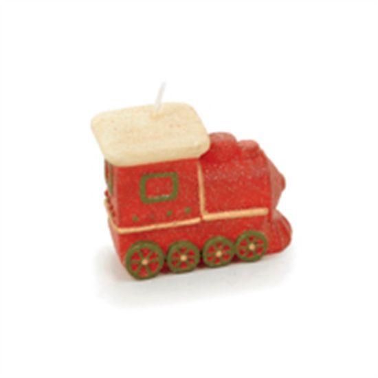 Vela Formato de Trem Vermelho (Velas de Natal) - 4 Un - 2 Un