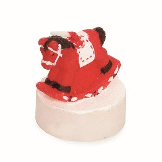 Vela de Natal Cavalo Mini Vermelho (5x4cm)