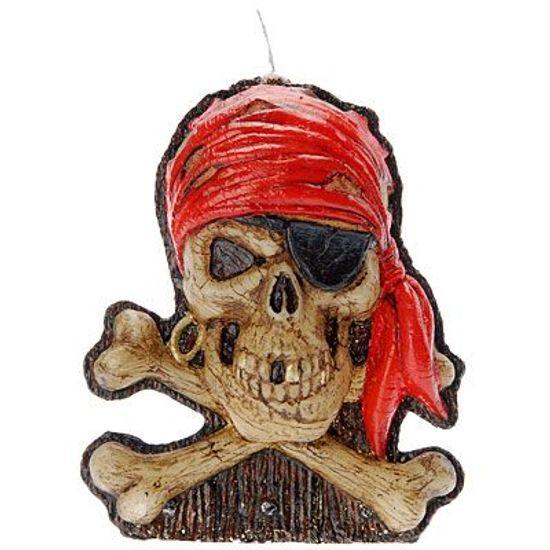 Vela Caveira Pirata Halloween