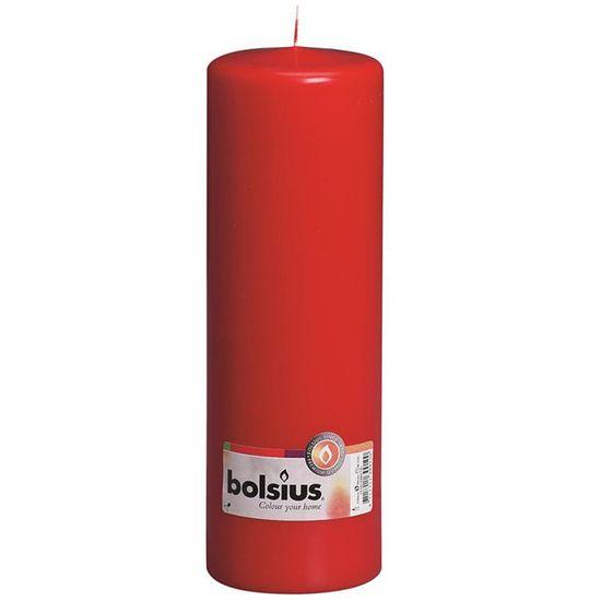 Natal - Vela Pilar Básico Vermelho 25X8 cm (Velas Bolsius) - 8 Un