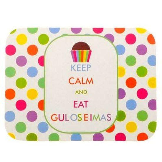 Tampa Duster para Mini Marmitinha de Guloseimas Keep Calm - 12 Un