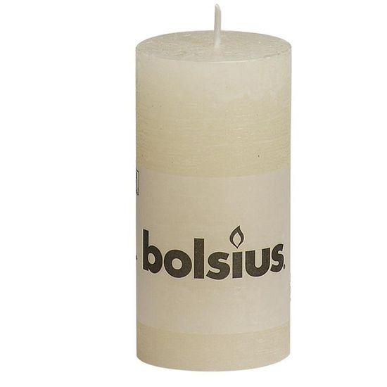 Natal - Vela Pilar Rústico Marfim 10X5 cm (Velas Bolsius) - 8 Un