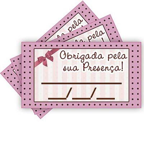 Tags SEM Furo Rosa e Marrom Petit Poá - 15 Un