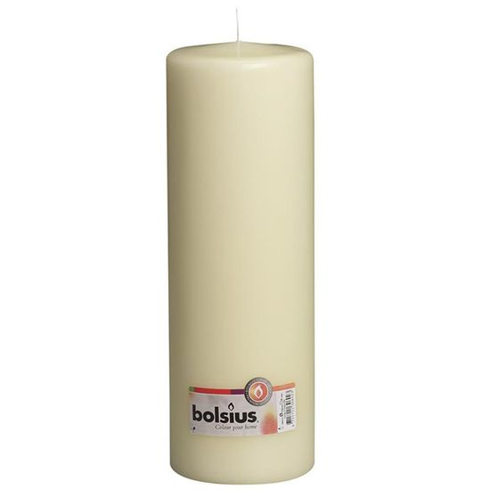 Natal - Vela Pilar Básico Branca 30X10 cm (Velas Bolsius) - 4 Un