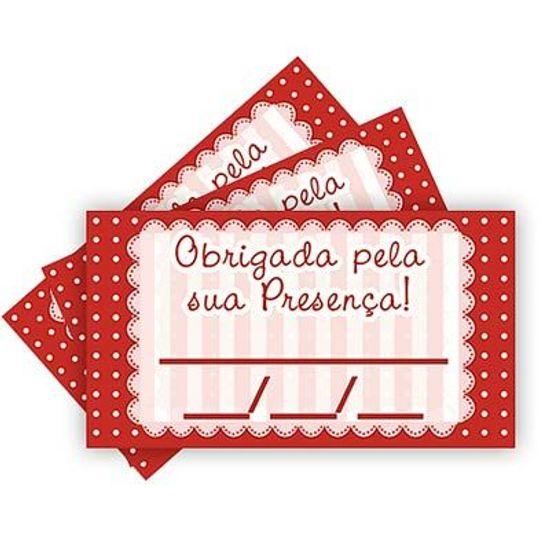 Tags SEM Furo Petit Poá Vermelho - 15 Un