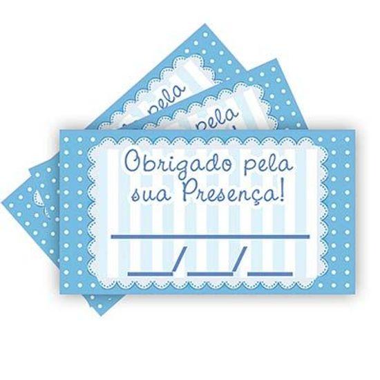 Tags SEM Furo Petit Poá Azul - 15 Un