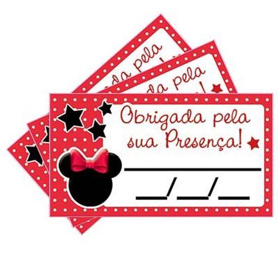 Tags SEM Furo Minnie Vermelha - 15 Un