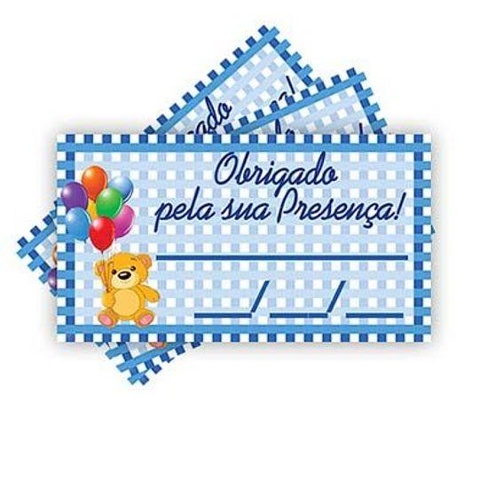 Tags SEM Furo Infantil Azul - 15 Un