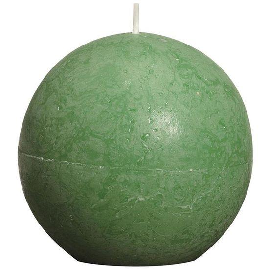 Natal - Vela Bola Rústico Verde Bandeira 8 cm (Velas Bolsius) - 6 Un