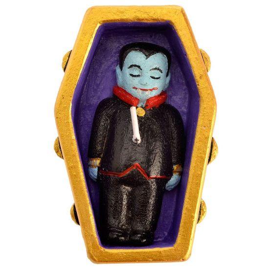 Vela Artesanal Vampiro no Caixão