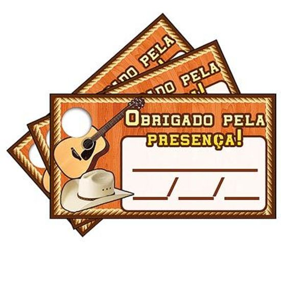 Tags com Furo Sertanejo - 15 Un