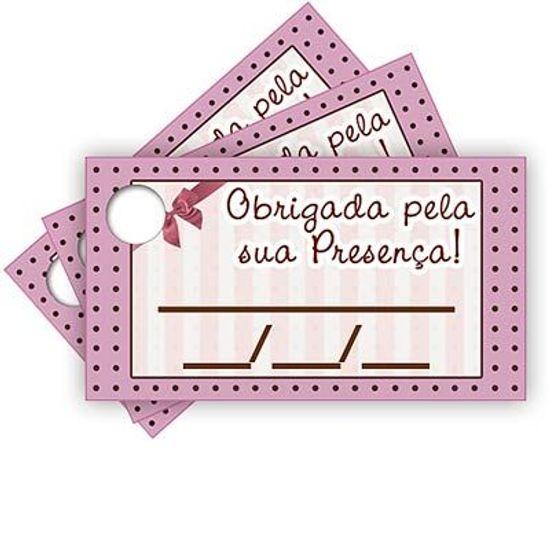 Tags com Furo Rosa e Marrom Petit Poá - 15 Un