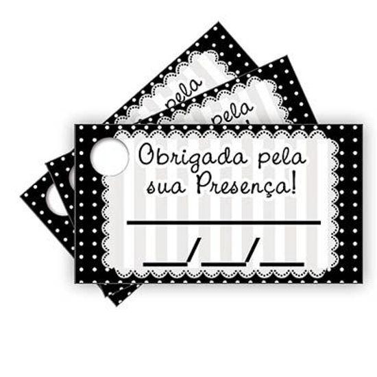 Tags com Furo Petit Poá Preto - 15 Un