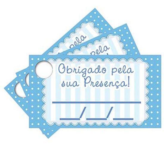 Tags com Furo Petit Poá Azul - 15 Un