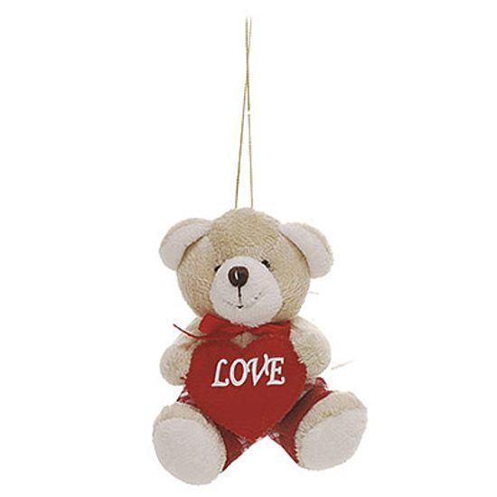 Urso Laço No Pescoço Vermelho ( Romântica ) - 6 Un