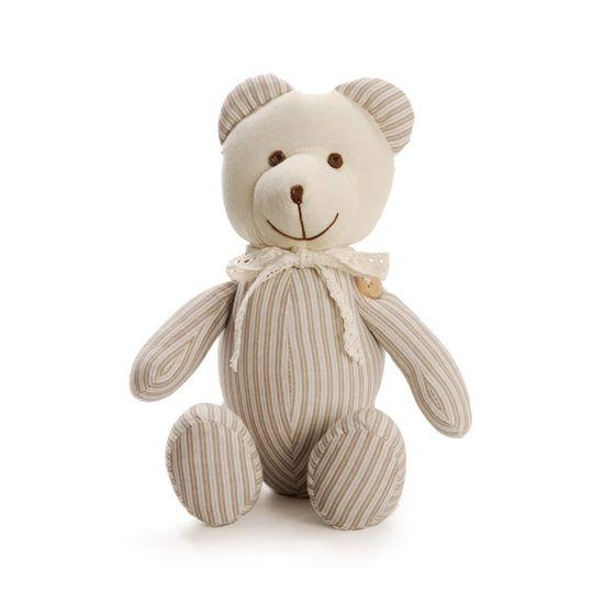 Urso Listrado Bege Cinza Tamanho Médio ( Muffin ) - 2 Un