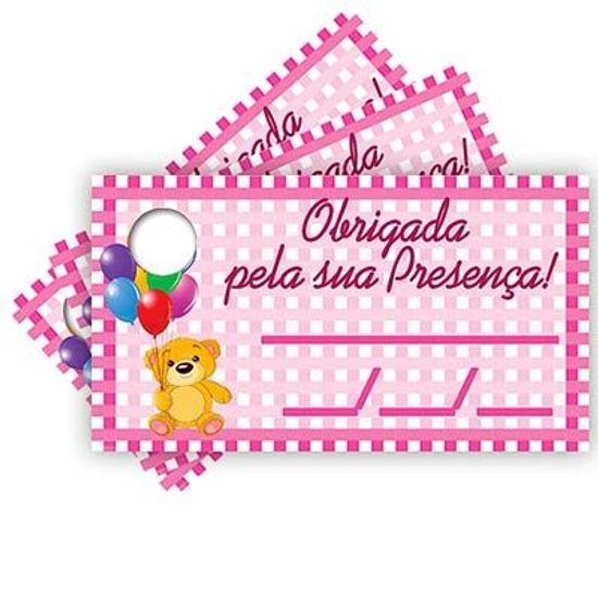 Tags com Furo Infantil Rosa - 15 Un