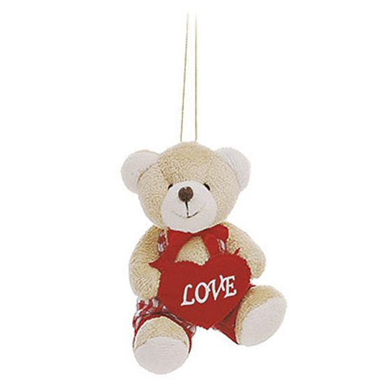 Urso Macacão Xadrez Vermelho ( Romântica ) - 6 Un