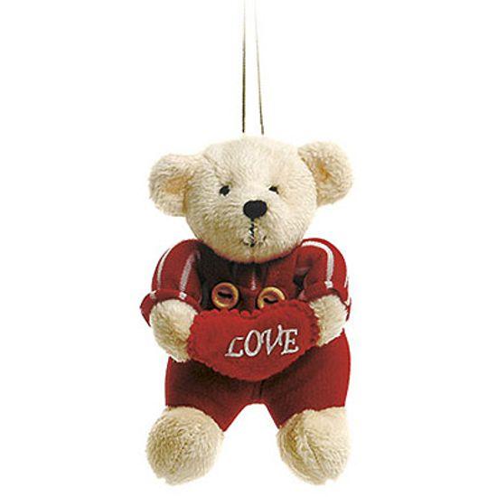 Urso Macacão Listrado Vermelho ( Romântica ) - 6 Un
