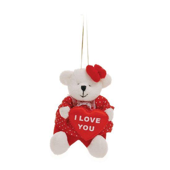 Românticarso Branco Roupa Vermelho Segurando Coração - 6 Un