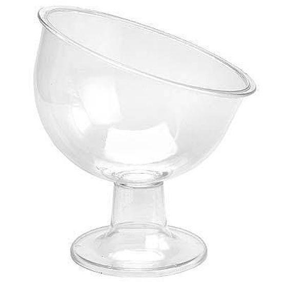 Taça Inclinada para Guloseimas Grande - Cristal