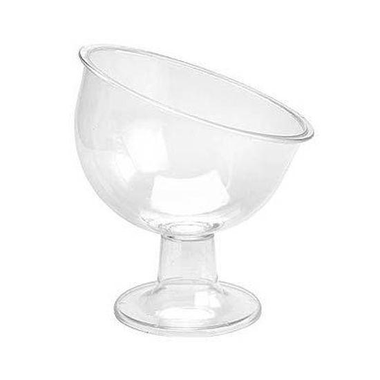 Taça Inclinada para Guloseimas Média - Cristal
