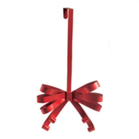 Gancho Laço em Metal Vermelho (Suportes para Guirlandas)