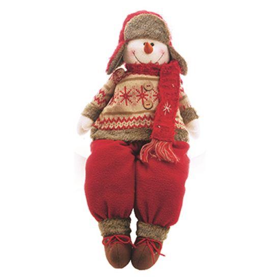 Tricot - Boneco de Neve Sentado