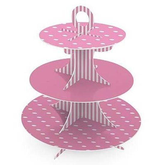 Suporte para Cupcake Petit Poá Rosa