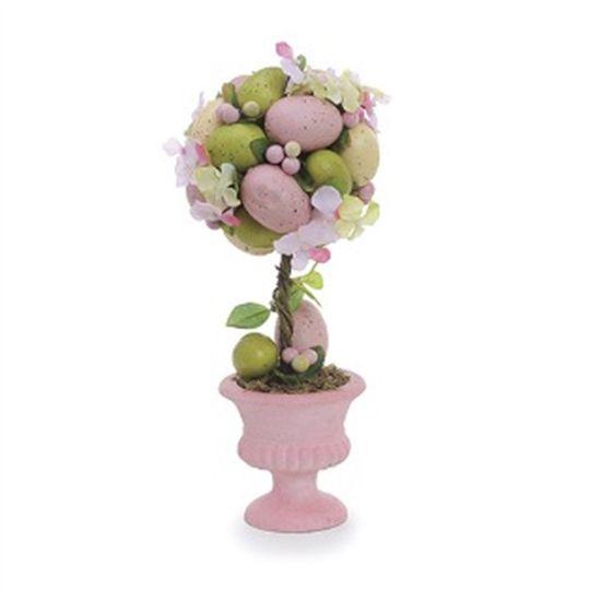 Fondant Topiaria Ovos Colorido Rosa - 2 Un
