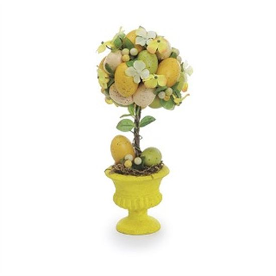 Fondant Topiaria Ovos Colorido Amarelo - 2 Un