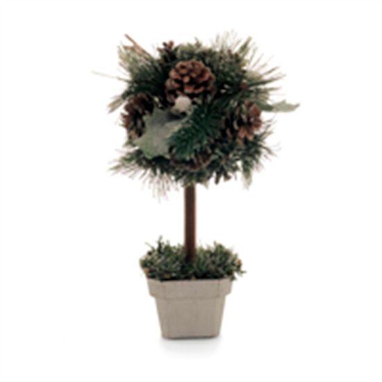 Mini Árvore de Natal com Pinhas Verde