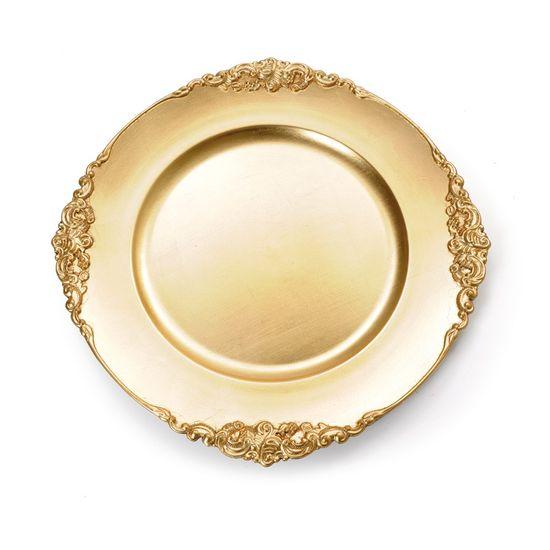Sousplat com Borda Provençal Ouro (Souplats) - 6 Un