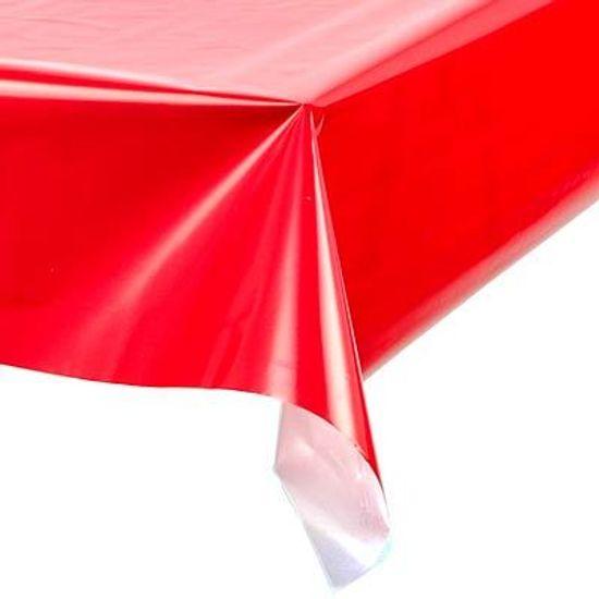 Toalha Plástica Perolada Liso Vermelho - 10 Un
