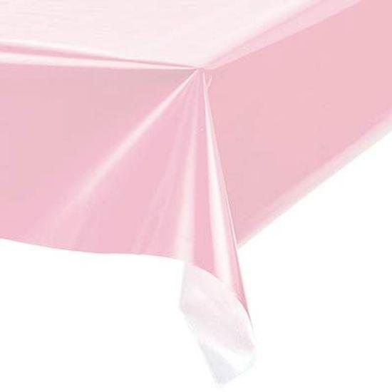 Toalha Plástica Perolada Liso Rosa - 10 Un