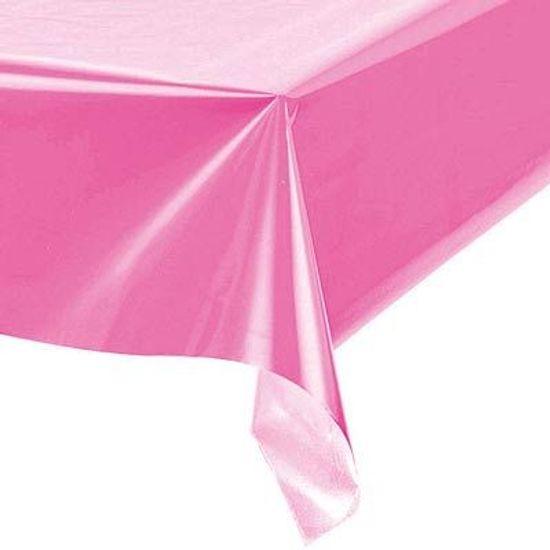 Toalha Plástica Perolada Liso Pink - 10 Un