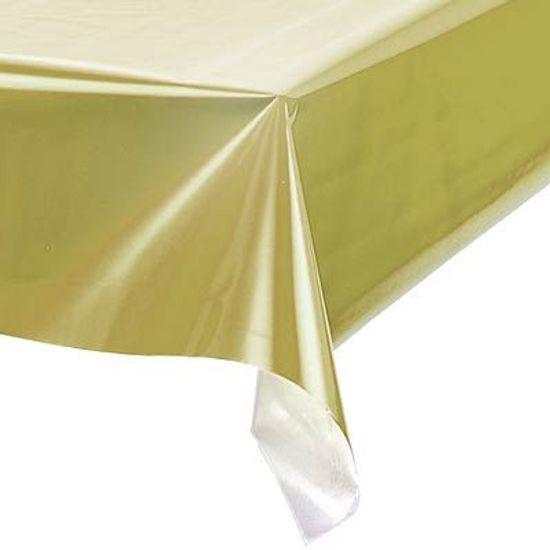 Toalha Plástica Perolada Liso Ouro - 10 Un