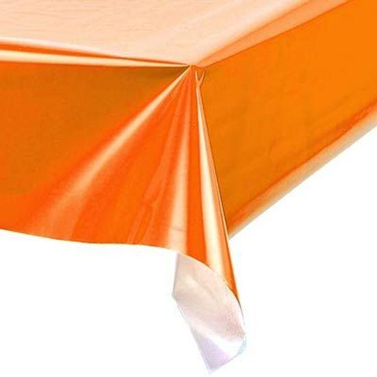 Toalha Plástica Perolada Liso Laranja - 10 Un